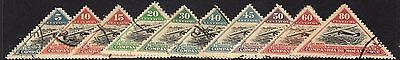 Mozambique Company 1935 Inauguration of New Air Route Set of 10 VFU