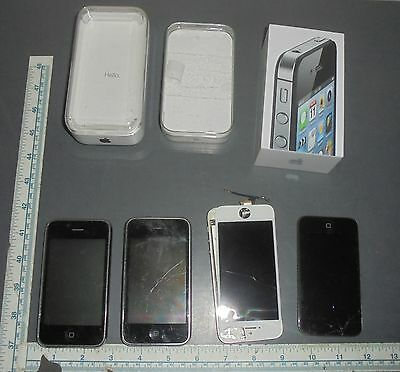 APPLE IPOD & IPHONE LOT FOR PARTS/REPAIR w BOXES