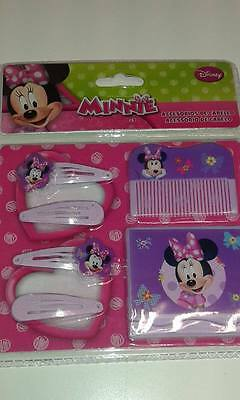 Set Accessori Capelli Bambina Fermacapelli Fermagli Specchietto Disney Minnie