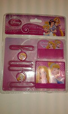 Set Accessori Capelli Bambina Fermacapelli Specchietto Disney Principesse
