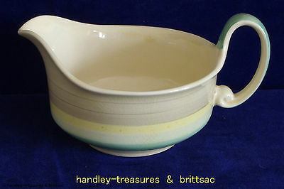 Vintage Susie Cooper Wedding Band Gravy Boat / Jug Green and Yellow