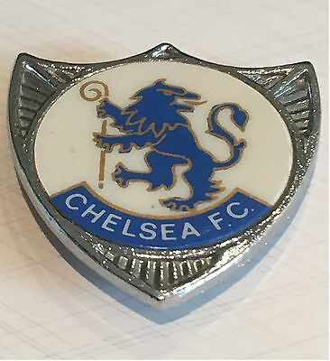 Chelsea Vintage Rare Shield Insert Type Chelsea F.c. Badge Brooch Pin