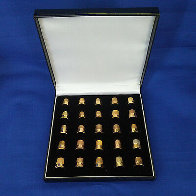 #375 - Lot of 25  GOLD  Thimbles - Vintage