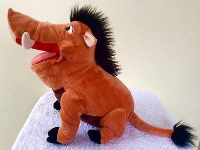 Disney Store (UK) Lion King - Pumba - Soft Toy - 12 Inches - Excellent Condition