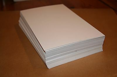 Letterpress 280gsm 100% cotton papers 100 sheets pure white  A5 210mm X 148mm