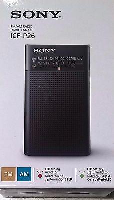 Sony FM/AM Compact Portable Radio ICF-P26 Brand New in Box