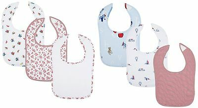 New 3 x JOHN LEWIS PRINTED BABY BIBS SET 100% Cotton Boys & Girls RRP £8