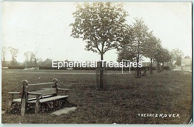 Over, Cambridgeshire 1921. Real Photograph Postcard. The Green