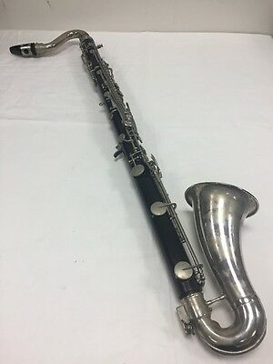 Selmer USA Bass Clarinet with Hard Case, Mouthpiece, Neckstrap - needs service