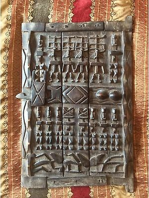 Authentic Mali Granary Door Dogon Tribe West African Traditional Crafts 63x43cm