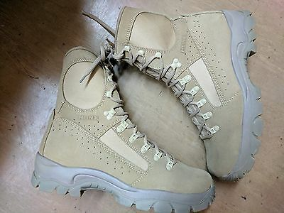 *NEW*Original Army Issue Leather Meindl MTP Desert Fox Combat Boots Size 11.5 UK