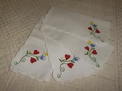 Napkins Cocktail Set of 4 Hand Painted Flowers..5C