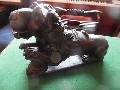 gothic architecture carved lion solid oak