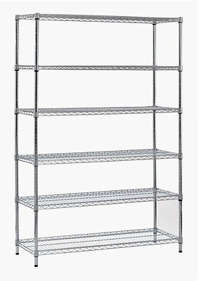Sandusky 72in 6-Shelf Steel Garage Storage Shelving Unit Heavy-Duty Adjustable