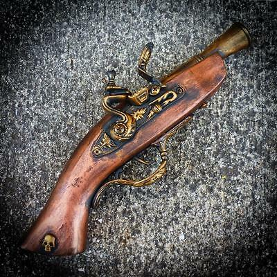 Steampunk gun Victorian Pirate flintlock toy ZOMBIE Vampire Antique replica