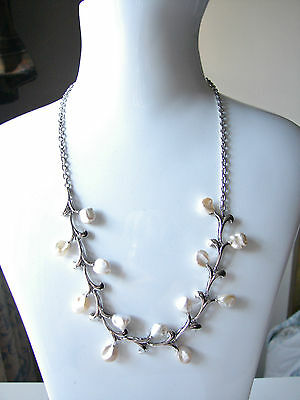 NEW Genuine Baroque Pearls Solid Silver 925 Necklace Fully Hallmarked
