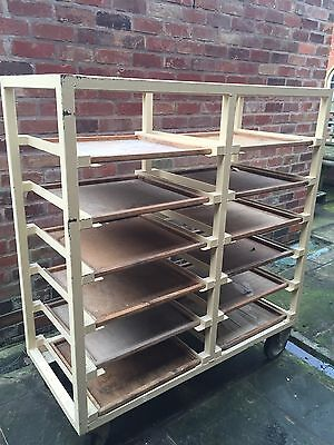 Pottery Potters Ware Board Studio Production Trolley