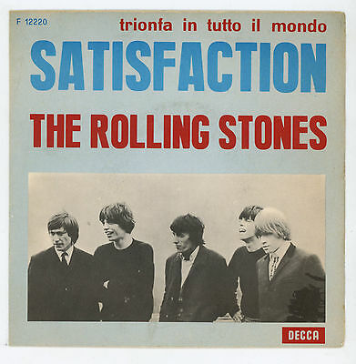 "The ROLLING STONES : (I Can't Get No) Satisfaction - 7"" ITALY 1966"