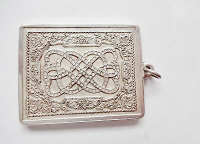 Vintage Sterling Silver Lovers Knot St Valentines Day 1977  Hallmarked Pendant