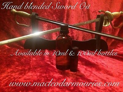 100ml Sword Oil, Choji blend for the care and preservation of swords