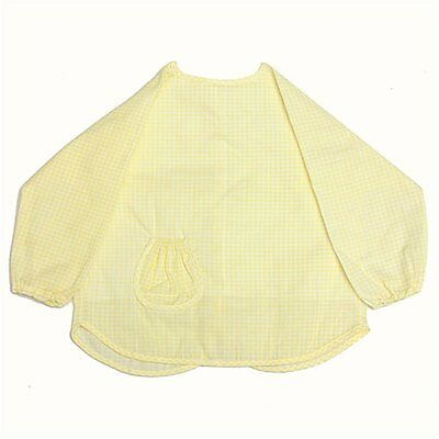 Baby Infant Toddler Waterproof Long Sleeve Apron Overall Food Catcher Bib PK