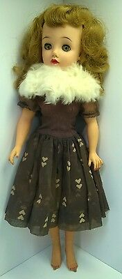 Vintage Revlon Doll By Ideal VT 20 with Stockings Flocked Dress Fur