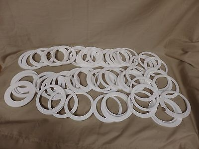 "Lot of 5 Pounds of Teflon Discs 4 3/4"" Diameter 1/8"" Thickness Centers Cut"