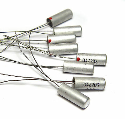 8 pcs of Original Vintage Mullard / Philips OAZ203 Germanium Zener Diode, NOS