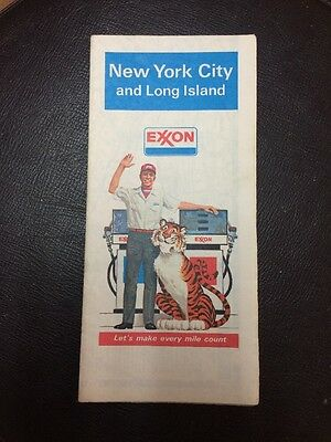 Vintage 1979 New York City And Long Island Travel Map Exxon