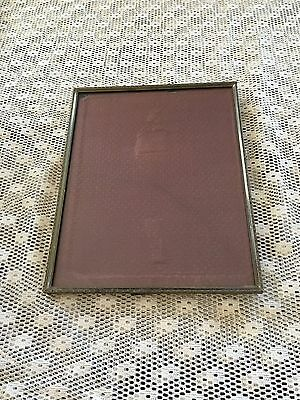 "Vintage Metal Picture Frame with Original Glass Holds 8""x10"" Photo 1/2"" Deep • $6.99"