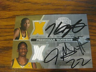 Kevin Durant Jeff Green Autographed Signed Spx Freshman Tandems Jersey Rc