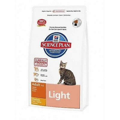 Hill's Science Plan Feline Adult Light con Pollo  Saco de 10 Kg