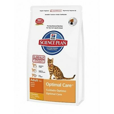Hill's Science Plan Feline Adult Optimal Care Pollo  Saco de 10 Kg