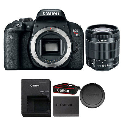 Canon EOS Rebel T7i 24.2MP DSLR Camera with Canon 18-55mm IS STM Lens