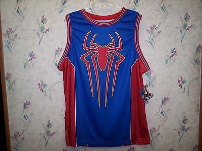 a495f677c43 Spiderman Marvel Men's Screen Print Basketball Jersey Size Large Mad Engine  New