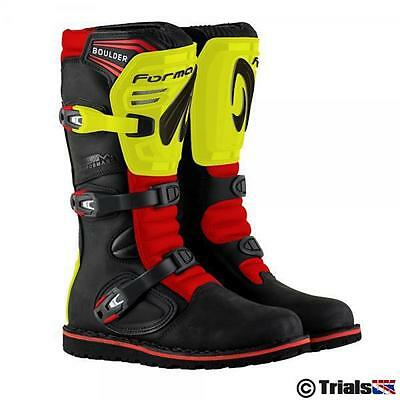 NEW Forma Boulder Trials Boot Black-Flou Yellow and Red