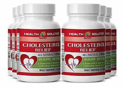 Cholesterol Relief (6 Bottles, 360 Capsules)