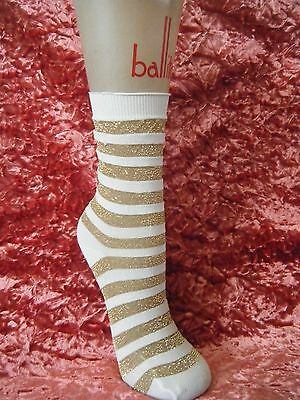 Mary Quant 1960s gold lurex and white ankle socks