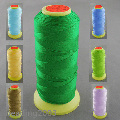1 Roll 0.8mm Strong Nylon Cords Sewing Threads Jewellery Wire Spool 300m/roll