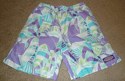 Boys Medium M Vineyard Vines VV-1998 Bathing Suit Swim Trunks Mesh Lined Preppy