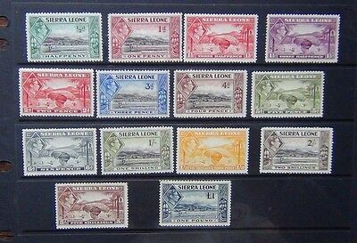 Sierra Leone 1938 - 44 values to £1 MM