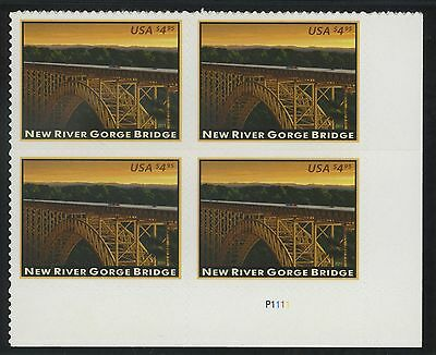 Scott # 4511 New River Gorge Bridge (LR) Plate Block of 4 MNH