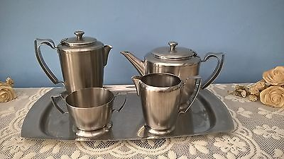 Old Hall Stainless Steel Tea Set - 5 Items - Balmoral Design