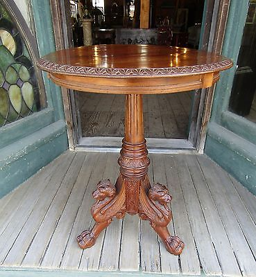 Victorian Mahogany Horner Winged Griffin Stand