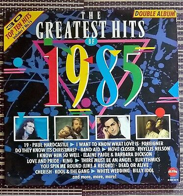 The Greatest Hits of 1985 2x Vinyl LP Record 33rpm 80's Chart Pop Star2269