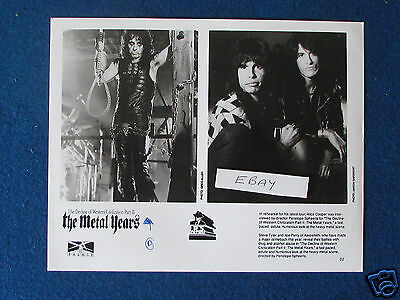 "Original Press Promo Photo - 10""x8"" - Alice Cooper - Aerosmith - 1988"