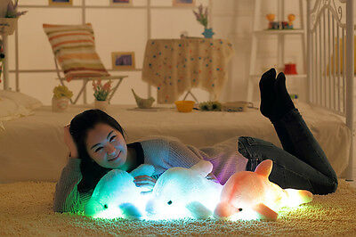 1pc 45cm Creative Luminous Plush Dolphin Doll Glowing Pillow, LED Light Doll Kid