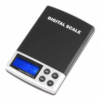 2000g/0.1g LCD Display Digtal Pocket Electronic Scale PK