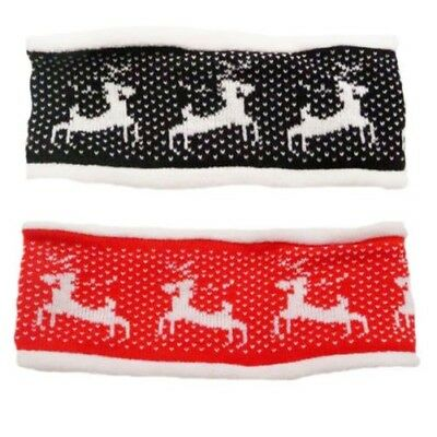 Womens Xmas Reindeer Headband Ladies Soft Fleece Lined Headband WAS£17 NOW£4