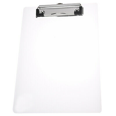 Clipboard Plate Door Translucent Block clip for Paper A5 Office  PK